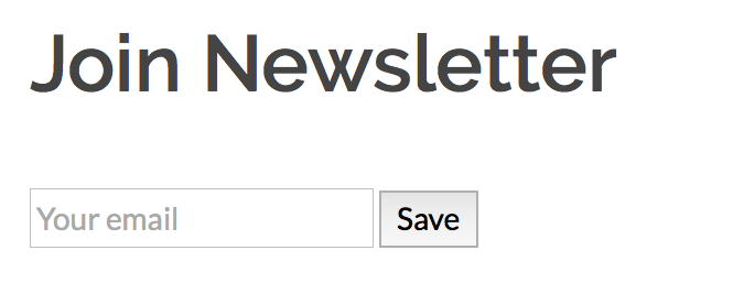 Screenshot of Join newsletter block