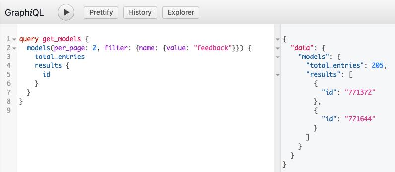 GraphiQL main editor window