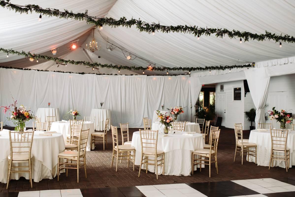 garden tent wedding in atlanta