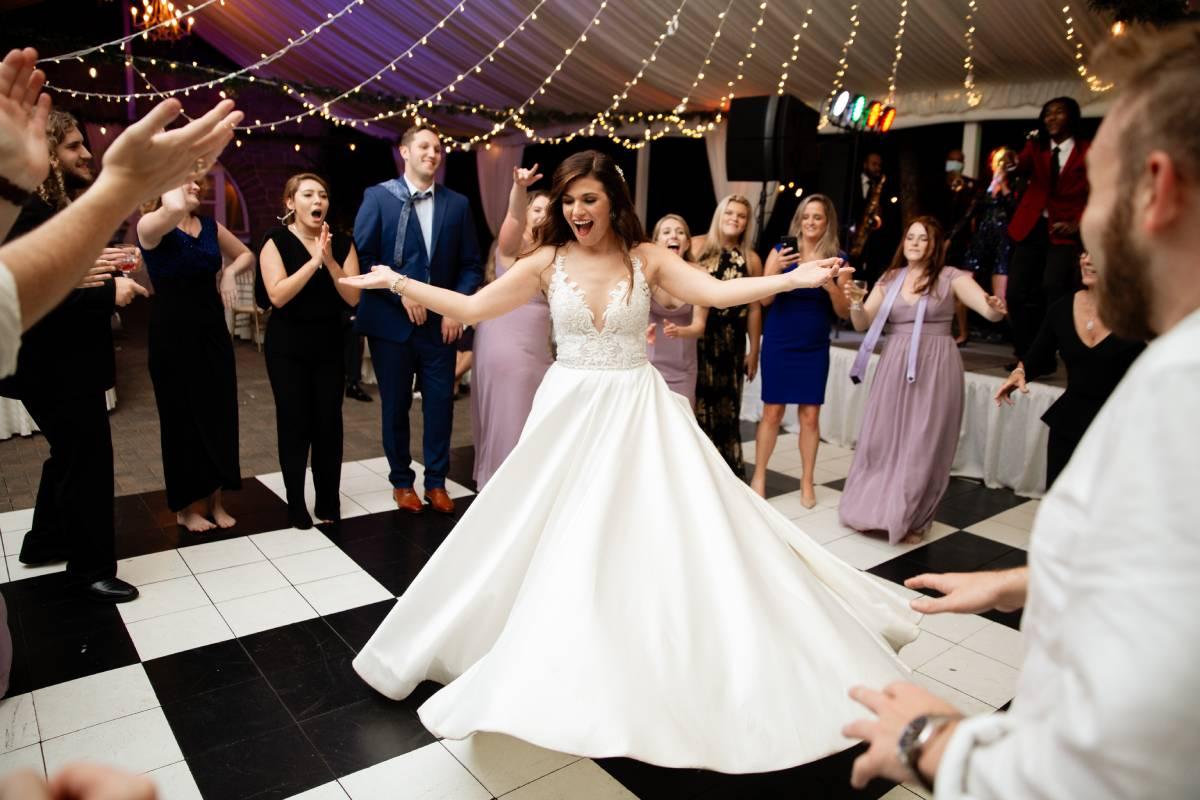 outdoor wedding with view at atlanta ga