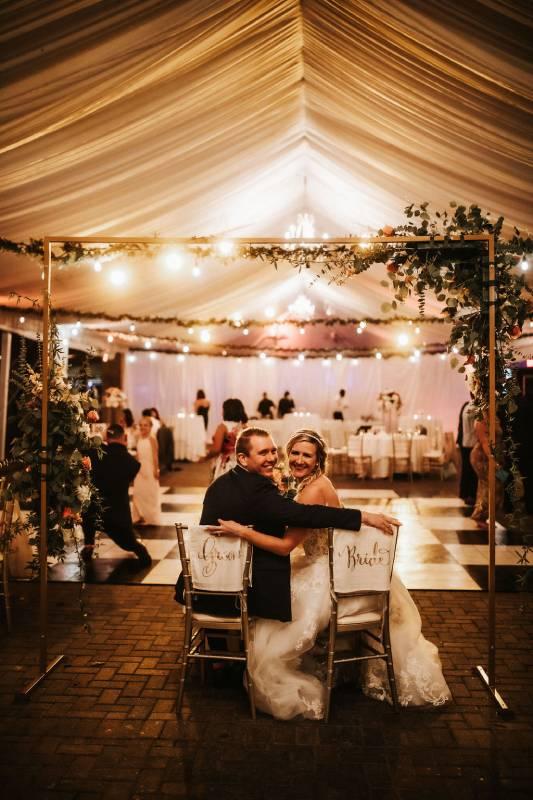 outdoor wedding with view piedmont park