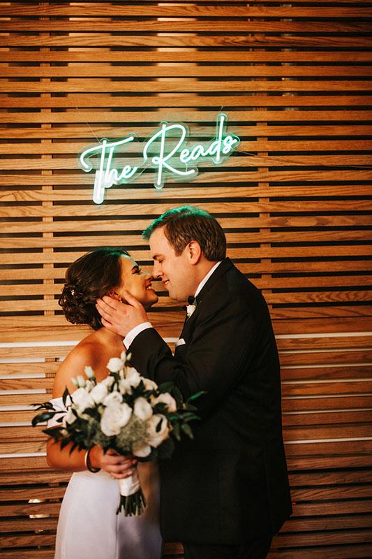 bride groom kiss Atlanta