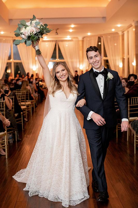 groom bride flower in Piedmont Room