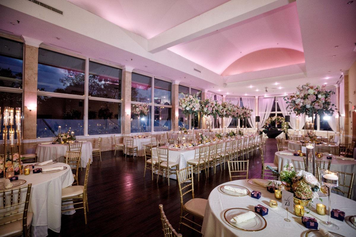 indoor wedding reception at Atlanta
