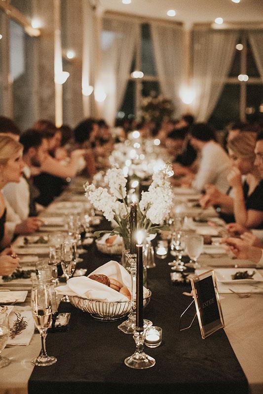 wedding candle dining in Atlanta