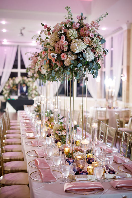 wedding reception flower at Atlanta ga