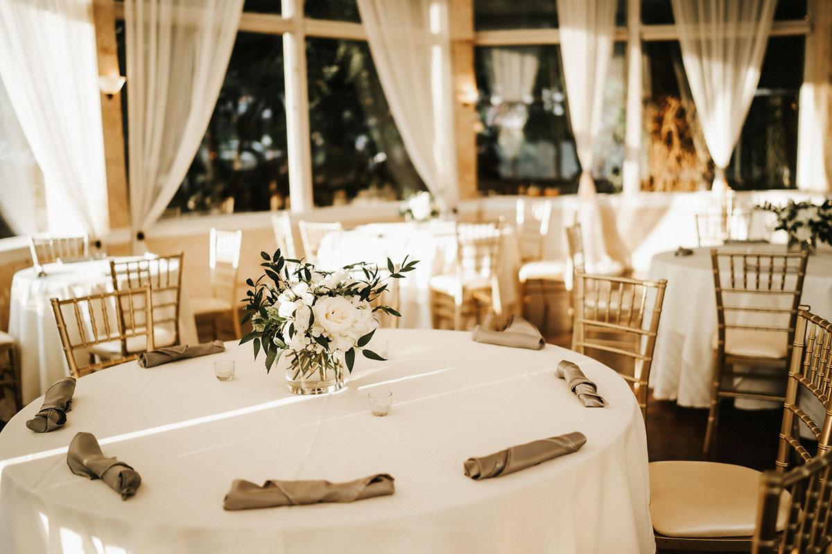 wedding reception table & flowers in Atlanta