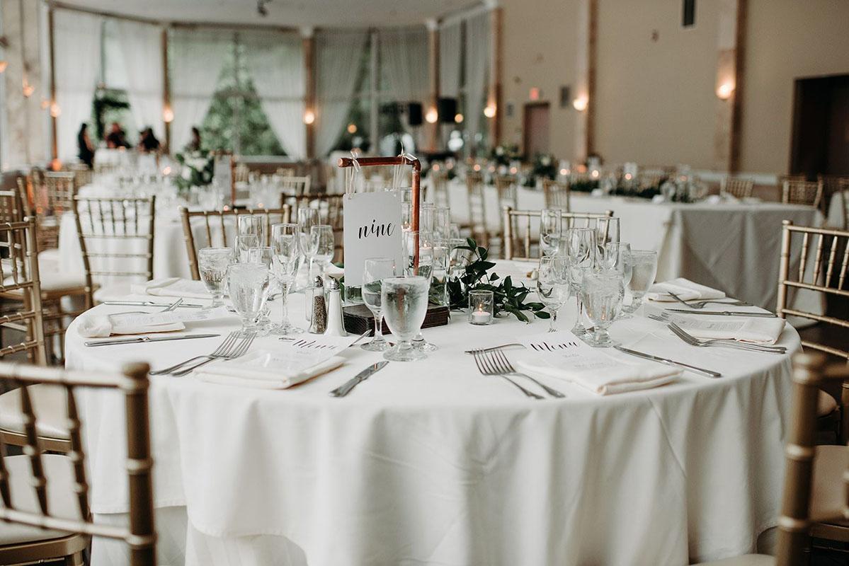 wedding table & flowers midtown at Atlanta
