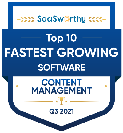 Siteglide has reached Top 10 fastest growing software (CMS) on SaasWorthy