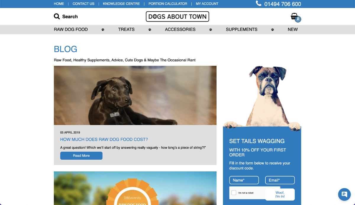 Dogs About Town Showcase Webapps