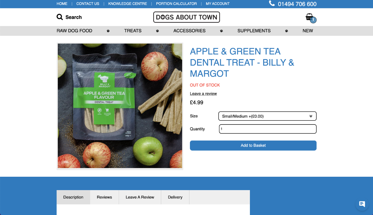 Dogs About Town Showcase eCommerce Products