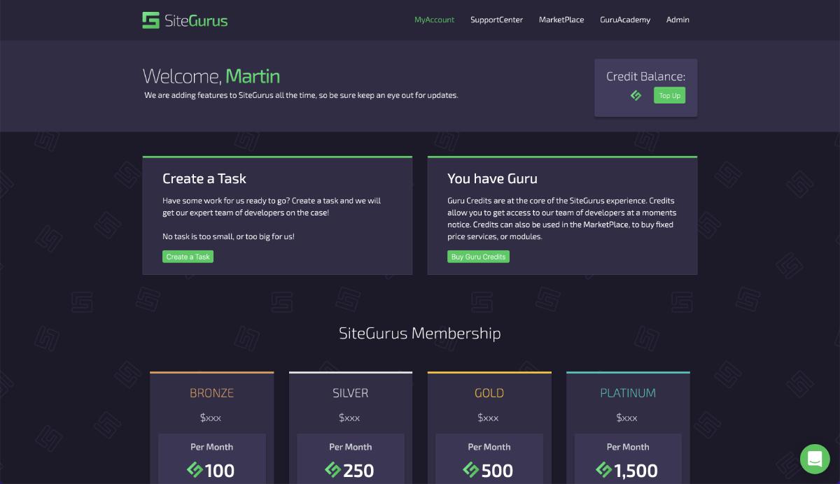 SiteGurus Showcase Secure Zones