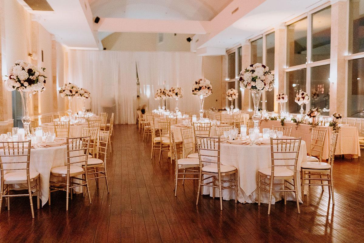 Wedding candle light wedding dinner near Atlanta