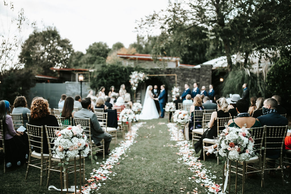 wedding with view garden tent in atlanta