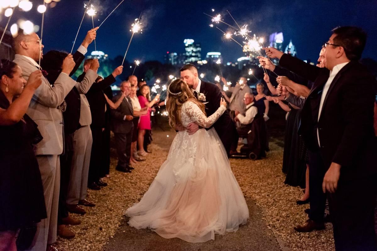 outdoor wedding with view at atlanta