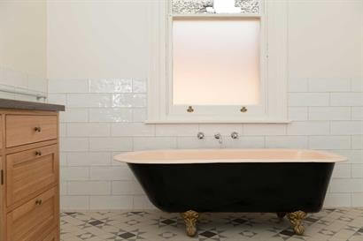 Classic restored free standing bath