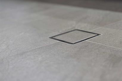 Sleek, modern bathroom floor drains for streamlined, minimalist look