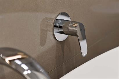 Grohe wall-mounted mixer in chrome