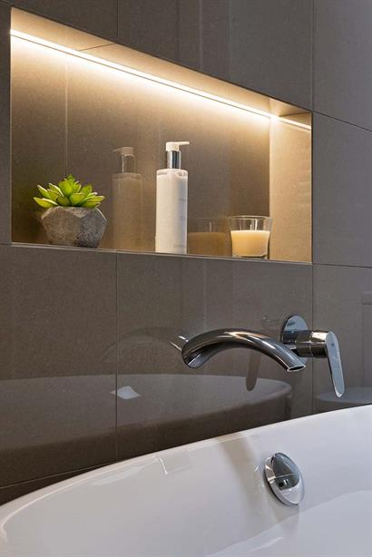 Stylish wall mounted mixer and tap for free-standing bathtub