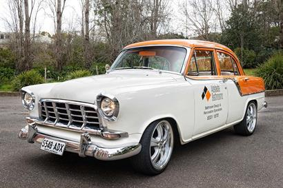 Adelaide Bathrooms classic vintage car advertising design & renovation services
