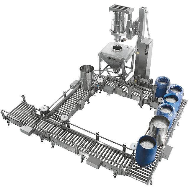 Sanitary Drum Conveyor System