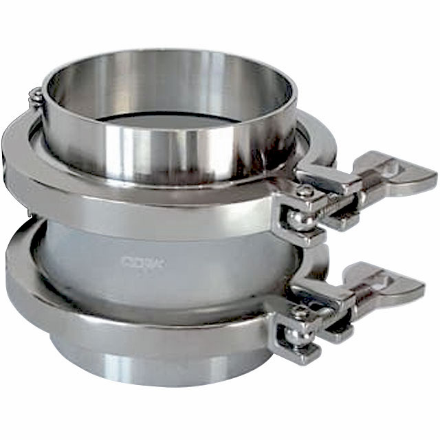 Tri-Clamp Flanges with Silicone Compensators