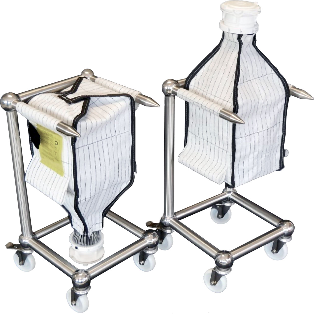 Adjustable FIBC Trolley for Single-use Containment Systems
