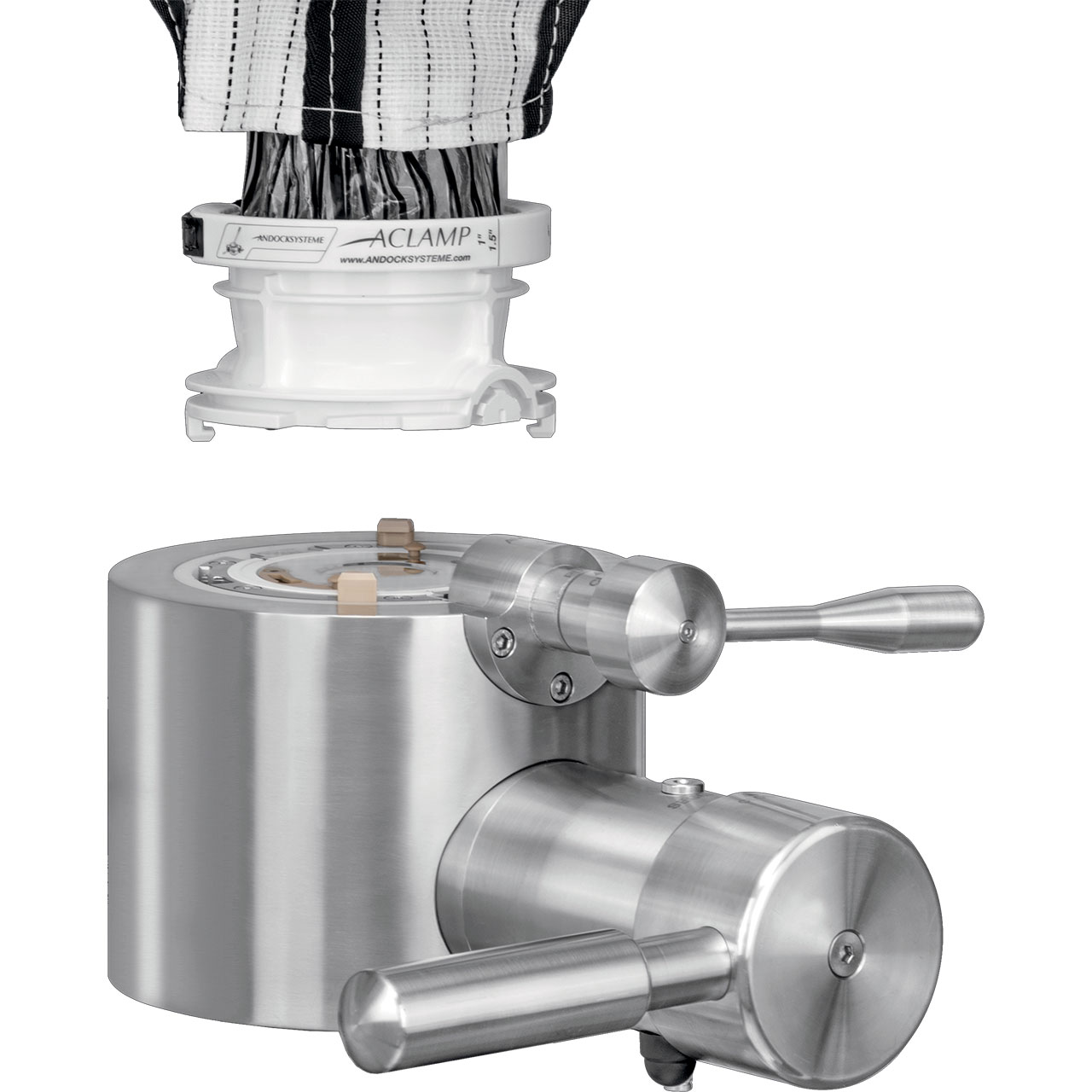 Single-use Compatible, Vacuum/Pressure Valve for High Containment - Active/Manual