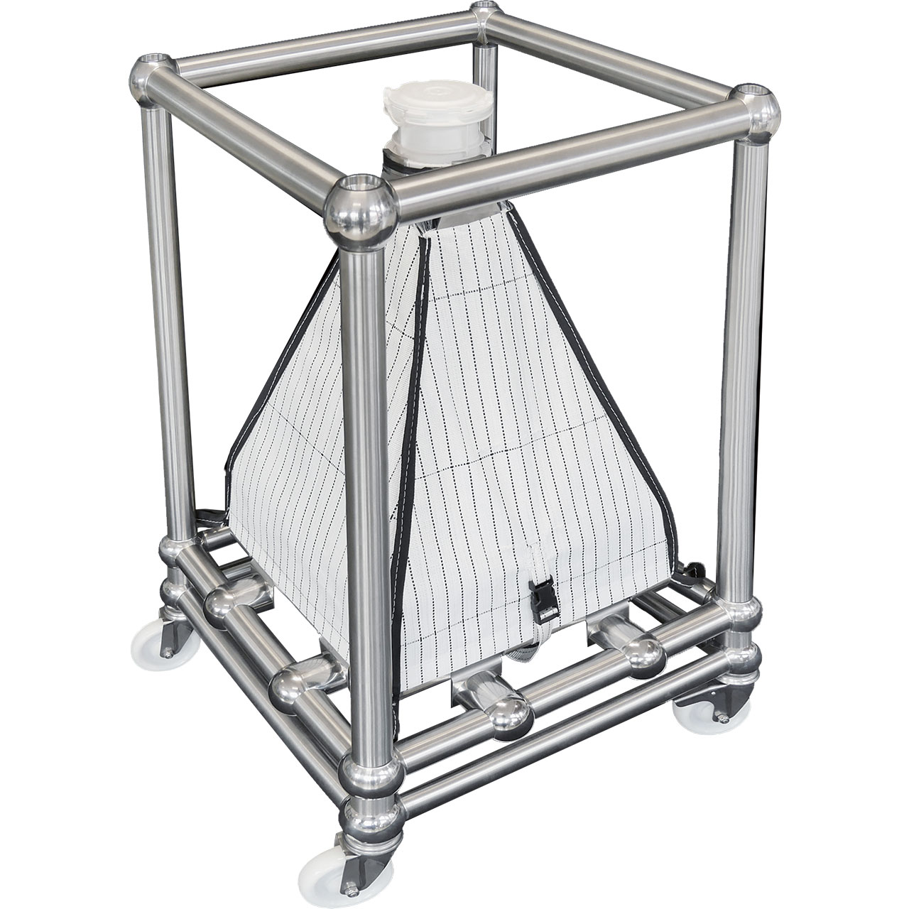 FIBC Bin Blending Frame for Single Use Containment Systems