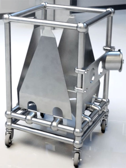 Poplet Image 1 for FIBC Bin Blending Frame for Single-use Containment Systems