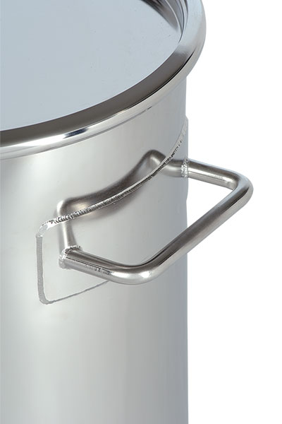 Poplet Image 4 for Stainless Steel Lidded Drum (Dished Bottom)