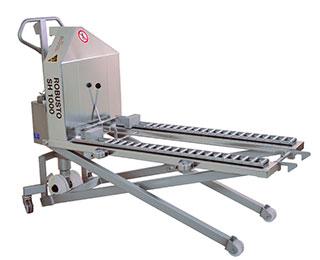ROBUSTO SH1000 Scissor Lift with optional roller conveyor