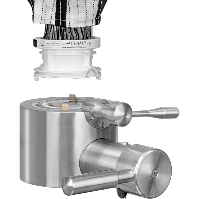 FIBC Single-use system connecting to the APORT process valve