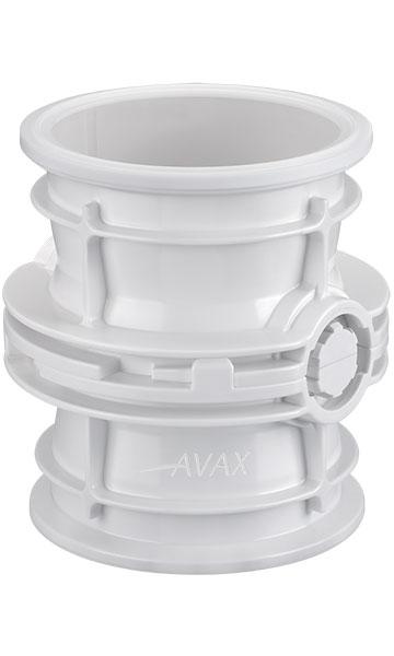 Plastic AVAX valve docked and locked
