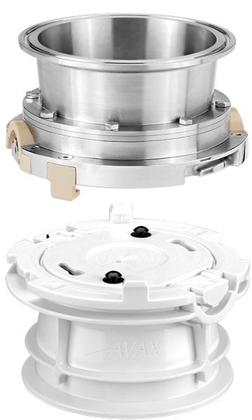 Plastic AVAX valve and matching stainless steel valve