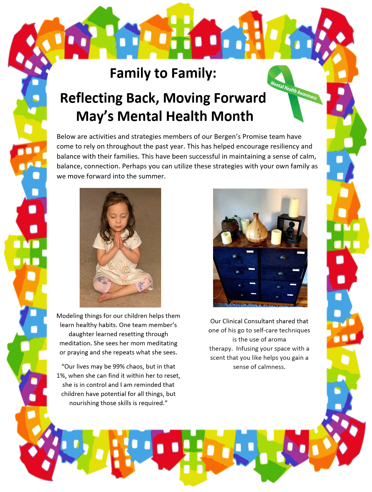 Family to Family: Reflecting Back, Moving Forward, May's Mental Health Month