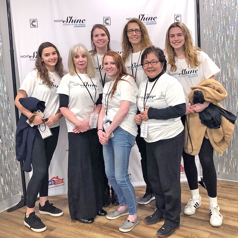 Bergen's Promise Volunteers at Night To Shine Event