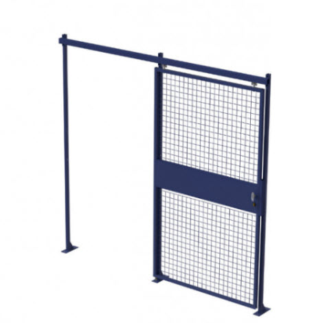 PORTE COULISSANTE SIMPLE - SEPARATION GRILLAGEE