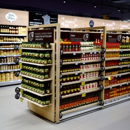 Rayonnage magasin-commerce