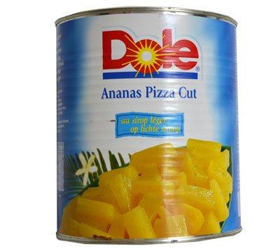 Ananas morceaux pizza cut sirop léger (Bte 3/1)