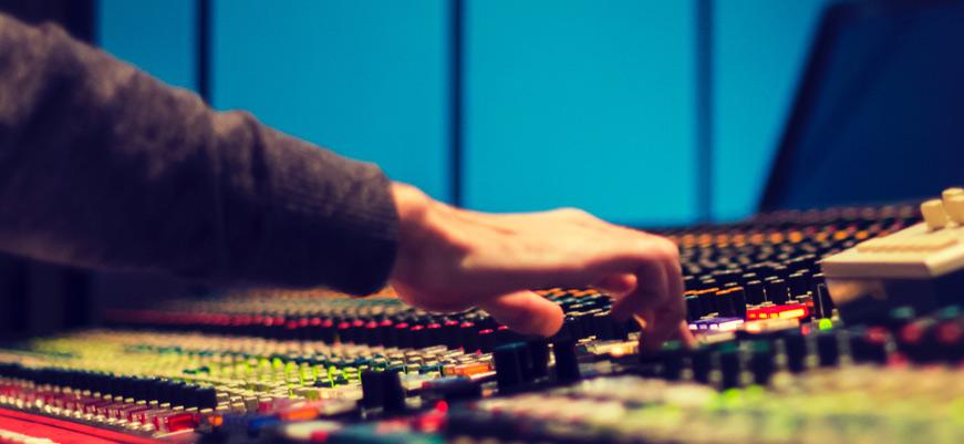 Audio Mixer Board in Studio