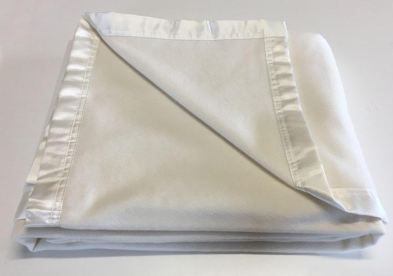 Bassinet Blanket Satin Bound - Natural Colour