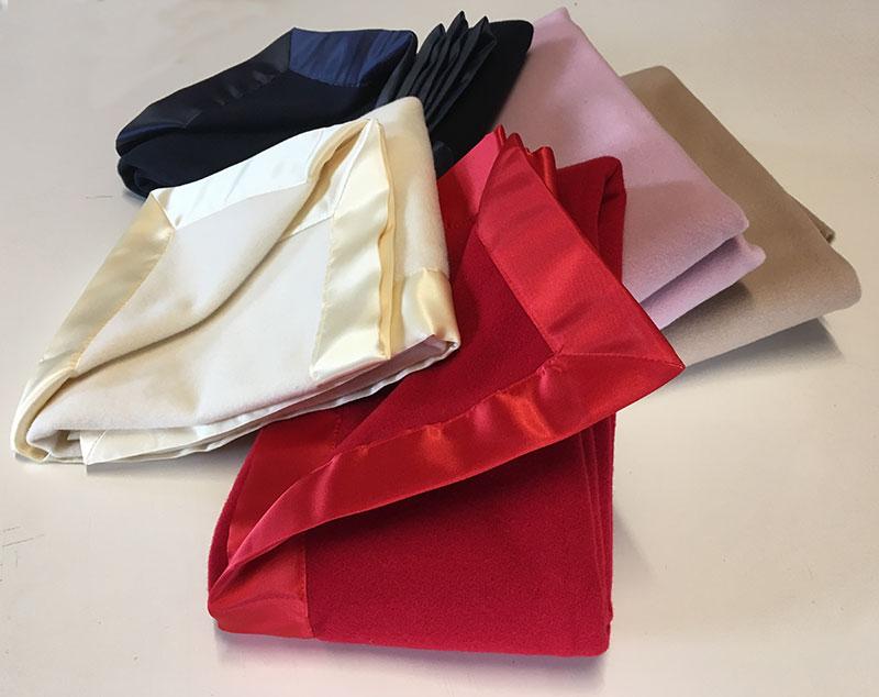 Bassinet Blanket Satin Bound - 6 Colours