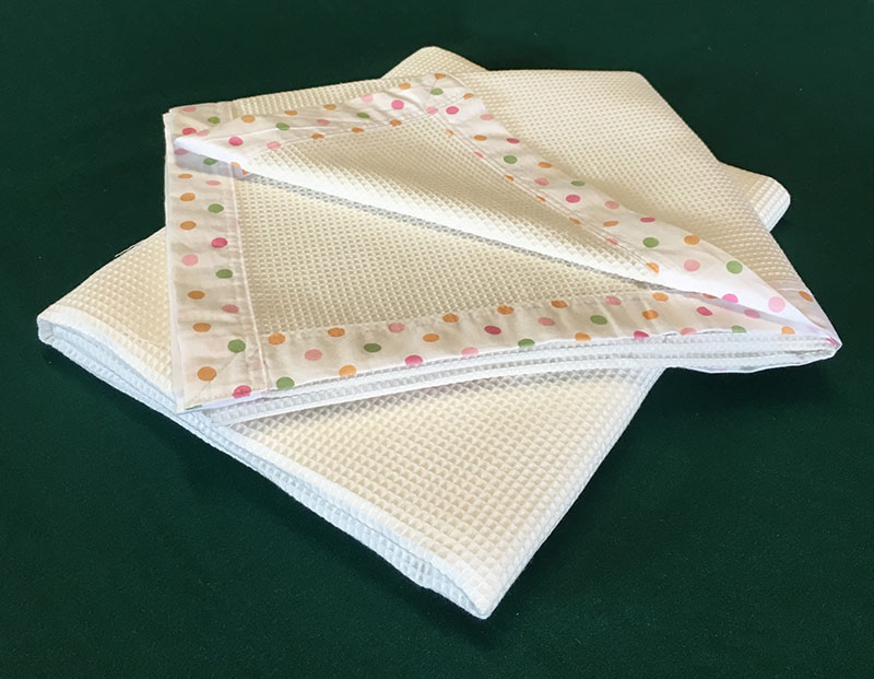 Cot Blanket - Satin Bound in Natural Colour