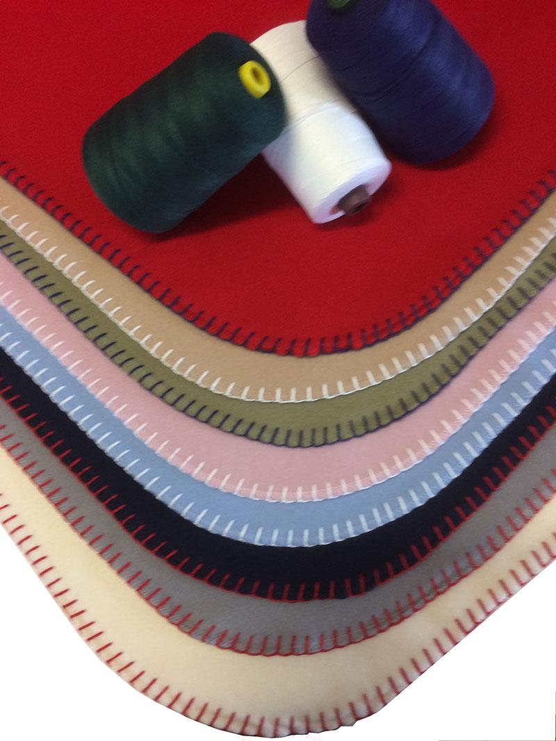 Stitched Cashmere Bassinette Blanket