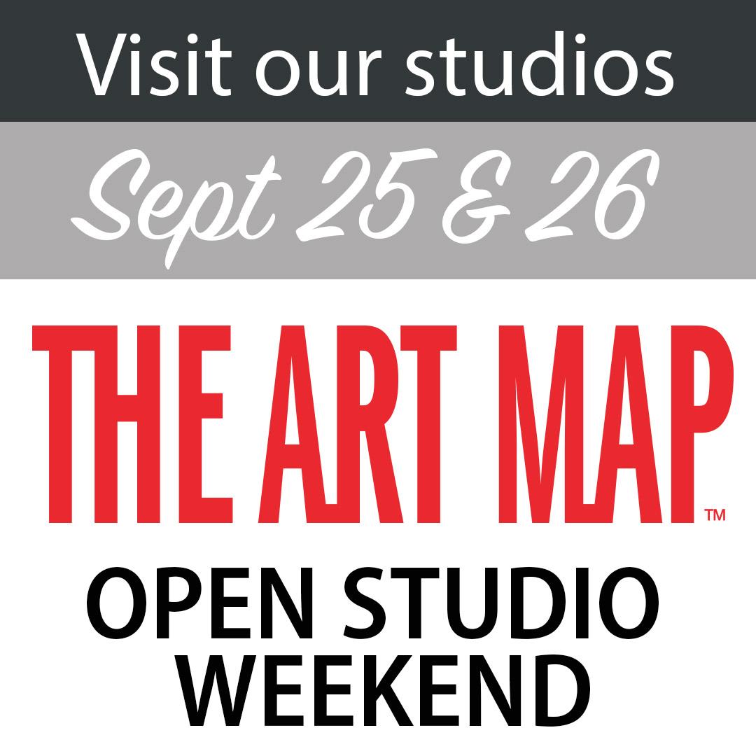 The Art Map open studio weekend sept 25 & 26.