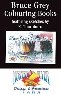 Bruce Grey Colouring Books ad.