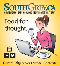 South Grey news ad Food for thought.