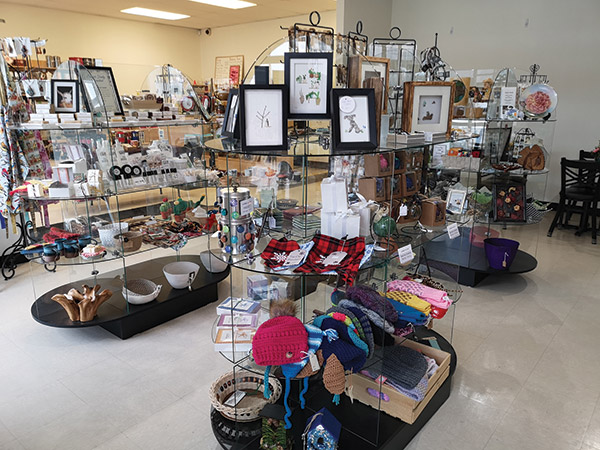 inside store with many items