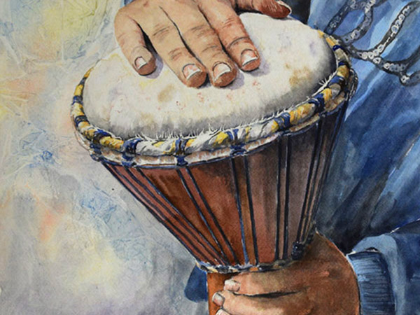 drummer playing a small drum